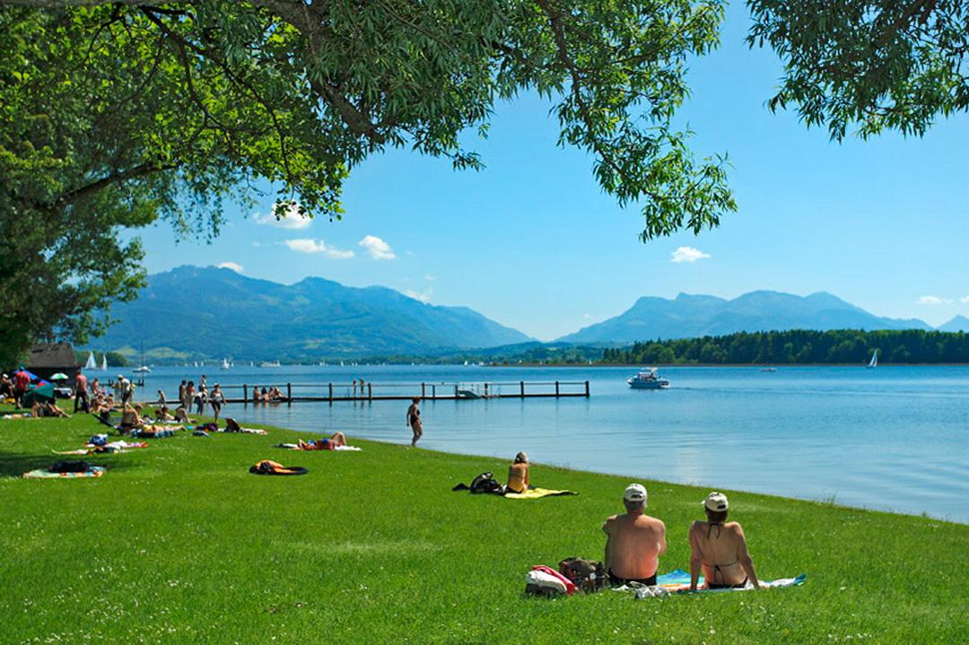 Naturpalette Chiemsee | Das Strandbad Breitbrunn